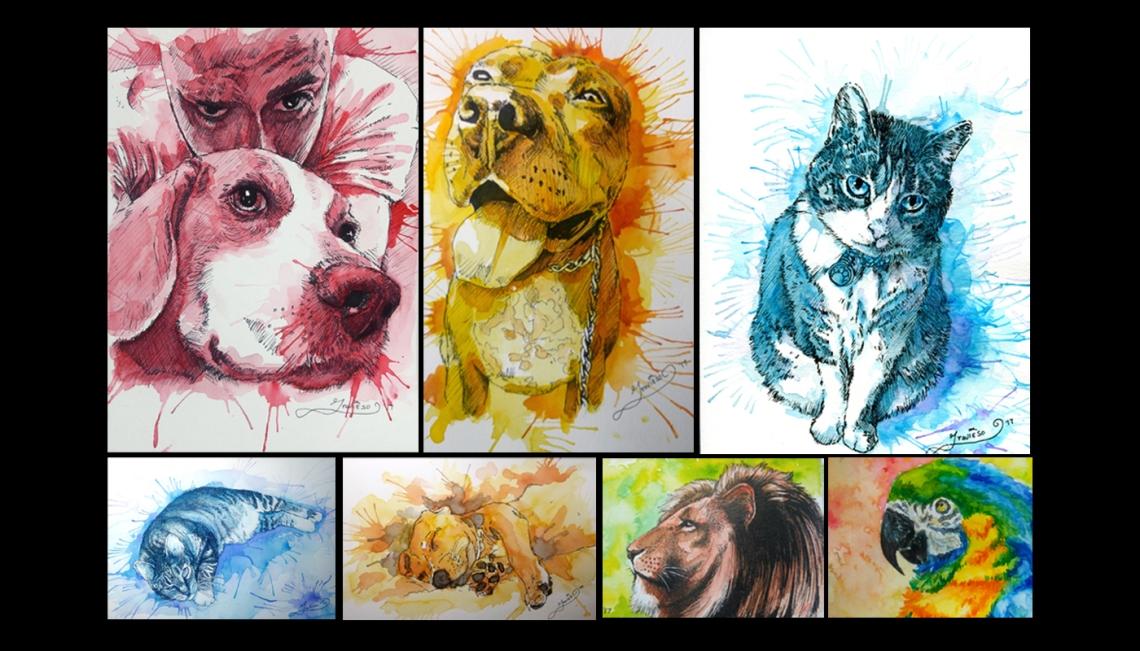 Animal Portraits Business Card 1 B No Words