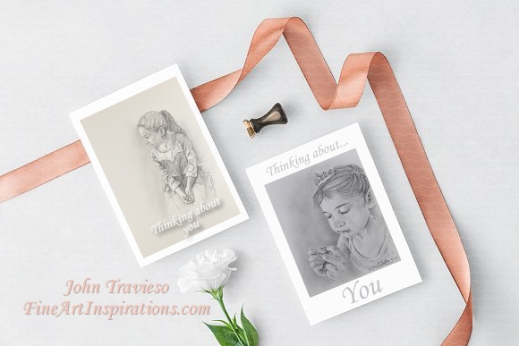 """""""Thinking of you"""" Greeting Cards"""